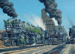 Railroad Prints and Original Paintings